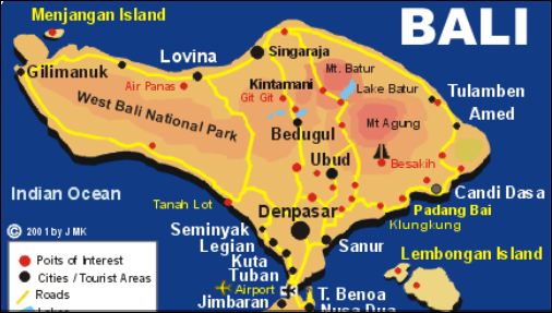 Map of Beaches in Bali Indonesia, Complete and Accurate!