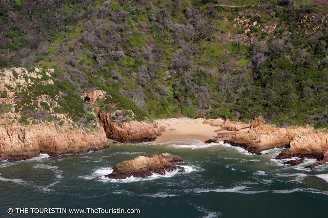 A beach in the featherbed reserve in Knysna in South Africa.