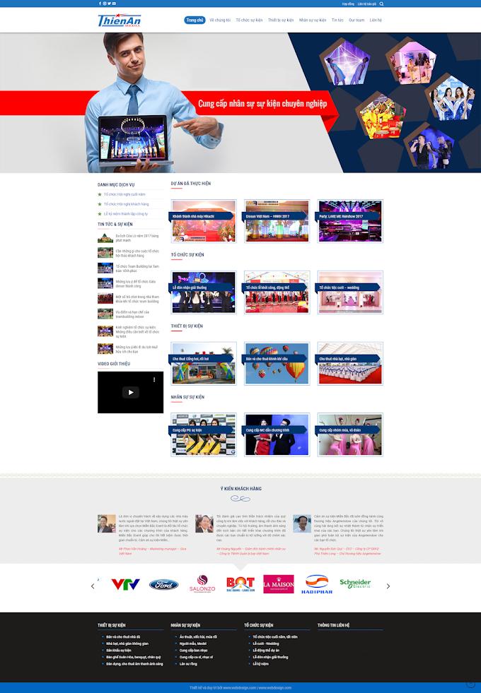 Mẫu website công ty sự kiện