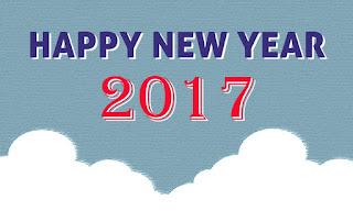 simple happy new year 2017 HD wallpaper