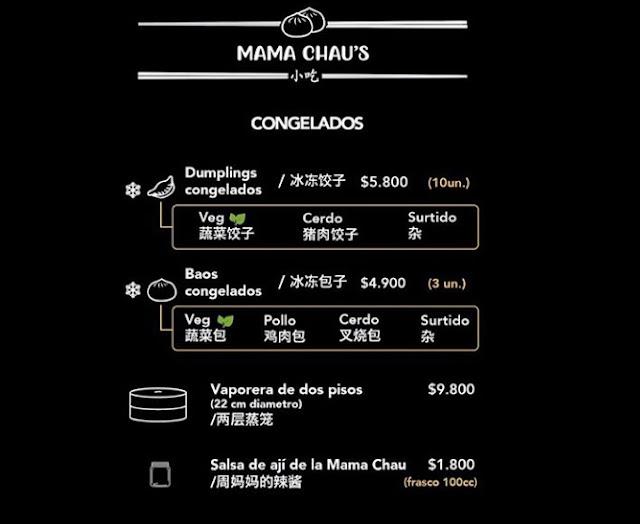 Carta Congelados - Mama Chau's
