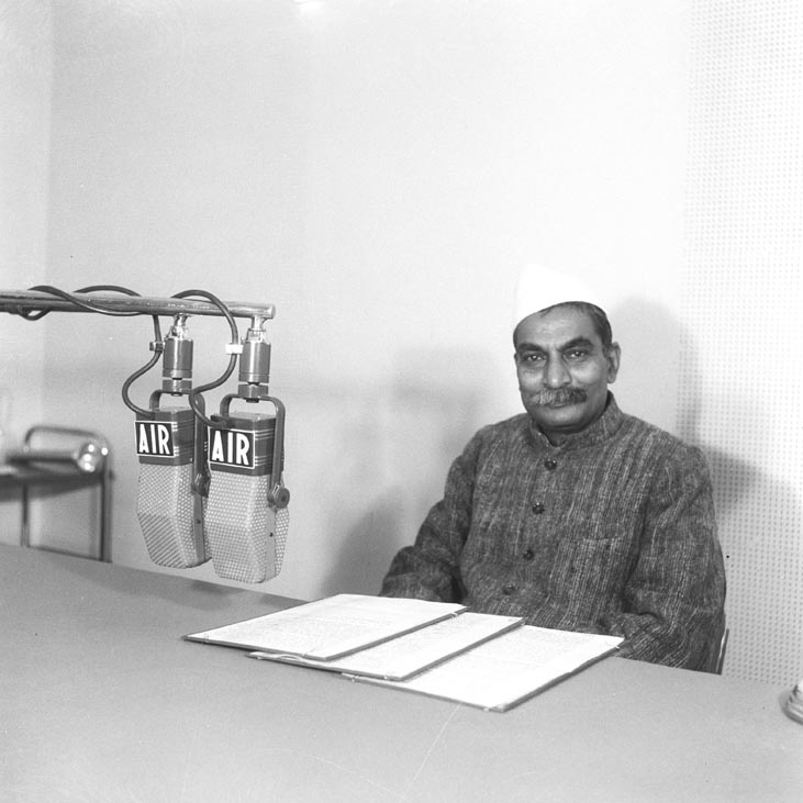 Food and Agricultural Minister Dr Rajendra Prasad During a Radio Broadcast in December 1947