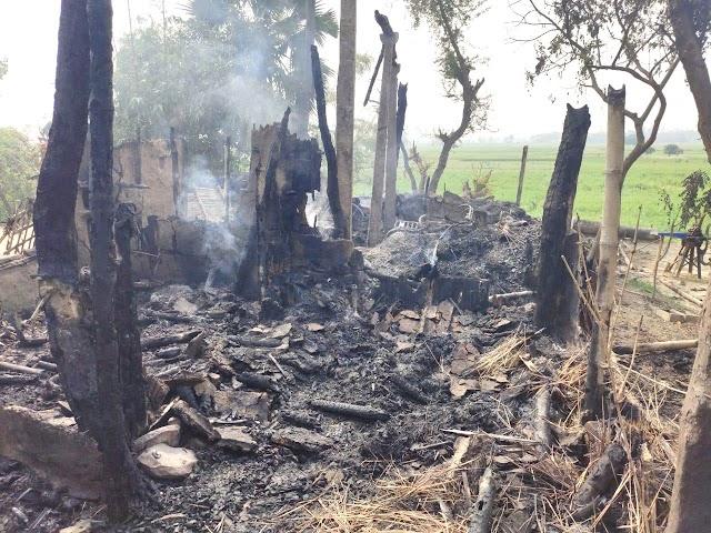 करहारा में अलाव से लगे आग में गृहस्वामी झूलसे, एक दर्जन मवेशी की मौत