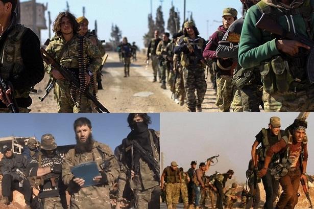 مجموعة من مسلحي الإِئتلاف يسلمون انفسهم لقوات ق س د وسط بعض التحركات العسكرية في جبهة زركان