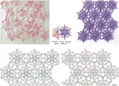 Revista gráficos crochet patrones motivos