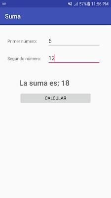 Sumar dos números en Android Studio