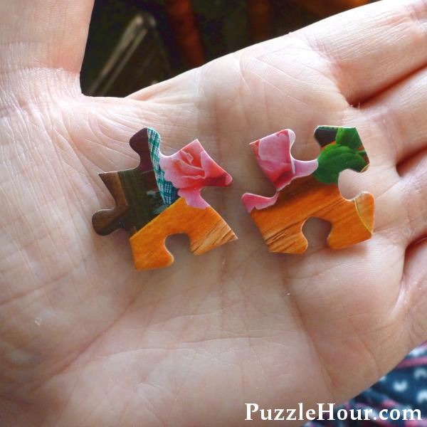 Buffalo Games jigsaw puzzle pieces zig zag shaped edges unusual