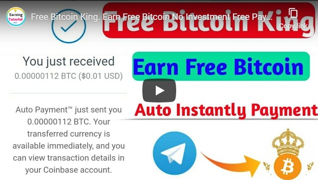Free Bitcoin King. Earn Free Bitcoin No Investment Free Payment.