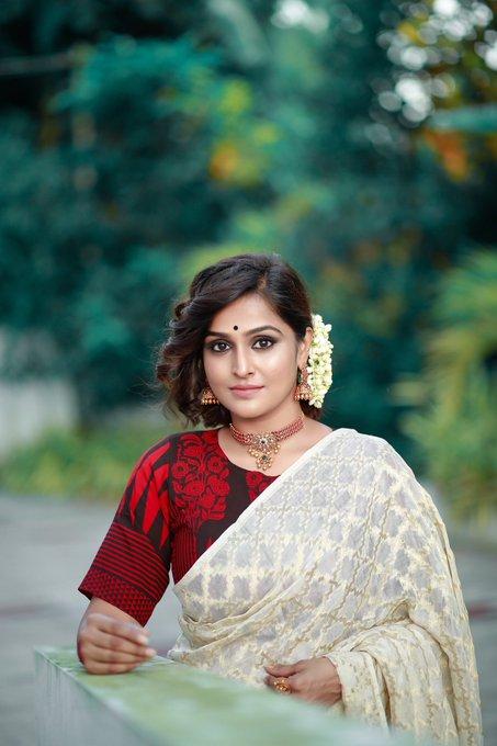 Ramya Nambessan New Stills Saree