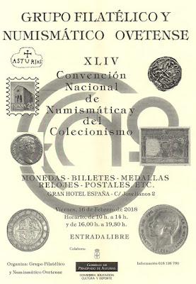 Cartel convención numismática y coleccionismo Oviedo