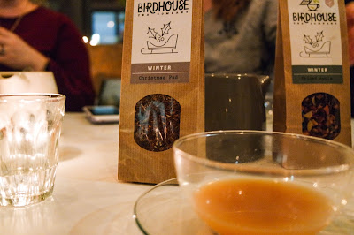 Birdhouse Tea bar and Kitchen Sheffield on Typewriter Teeth  christmas pudding tea from their winter range