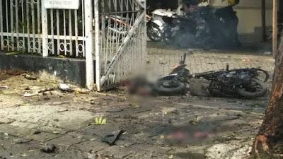 Bom Bunuh Diri di Depan Gereja Katedral Makassar, Potongan Tubuh Pelaku Berhamburan