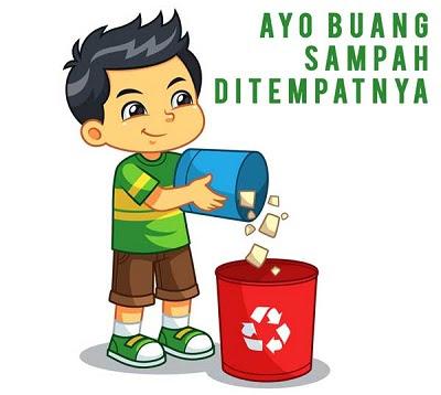 Poster Membuang sampah pada tempatnya www.simplenews.me