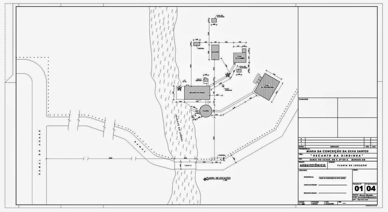 Projeto Arquitetônico - Sítio - Recanto da Dindinha