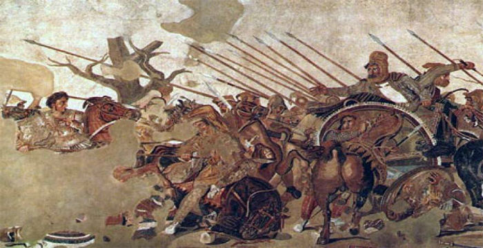 The battle of Gaugamela: Alexander the Great crushes Darius army and conquer the Persian Empire