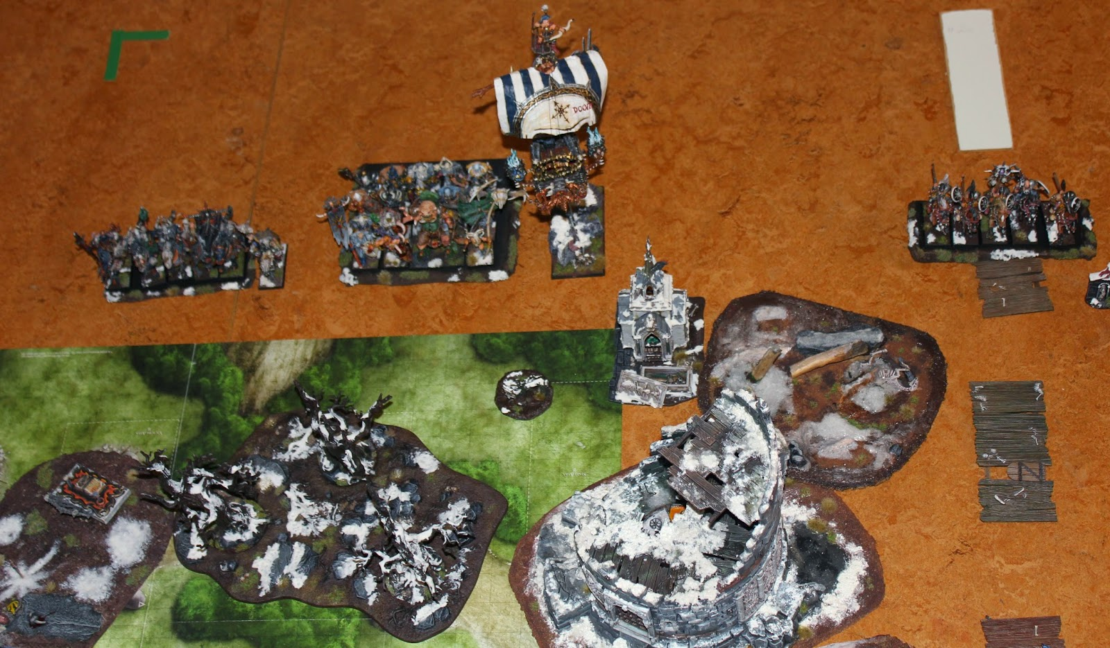 A Warhammer Fantasy Battle Report between Dark Elves and Warriors of Chaos.