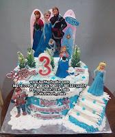 Kue Ulang Tahun Frozen Elsa Anna Olaf