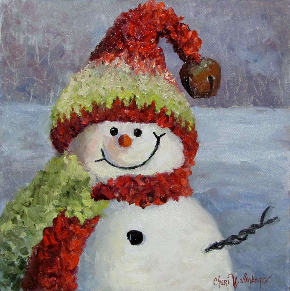 Christmas Snowman Painting II