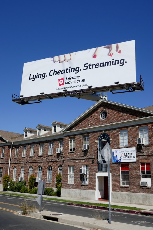 Lying Cheating Streaming Lifetime Movie billboard