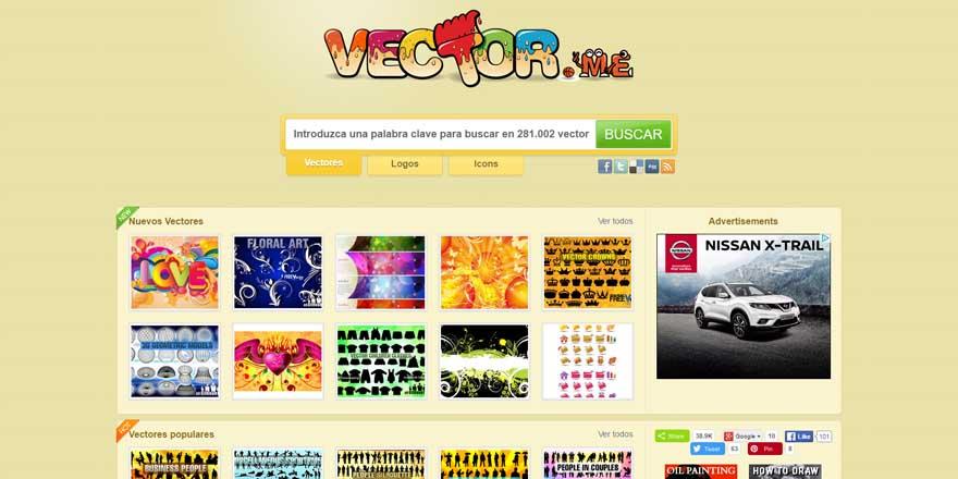 Vector.me página de fotos gratis
