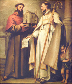 St. Leander (left} and St. Bonaventure