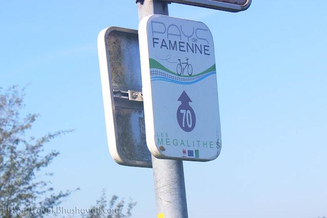 Les Megalithes Pays de Famenne a Velo Cycling route