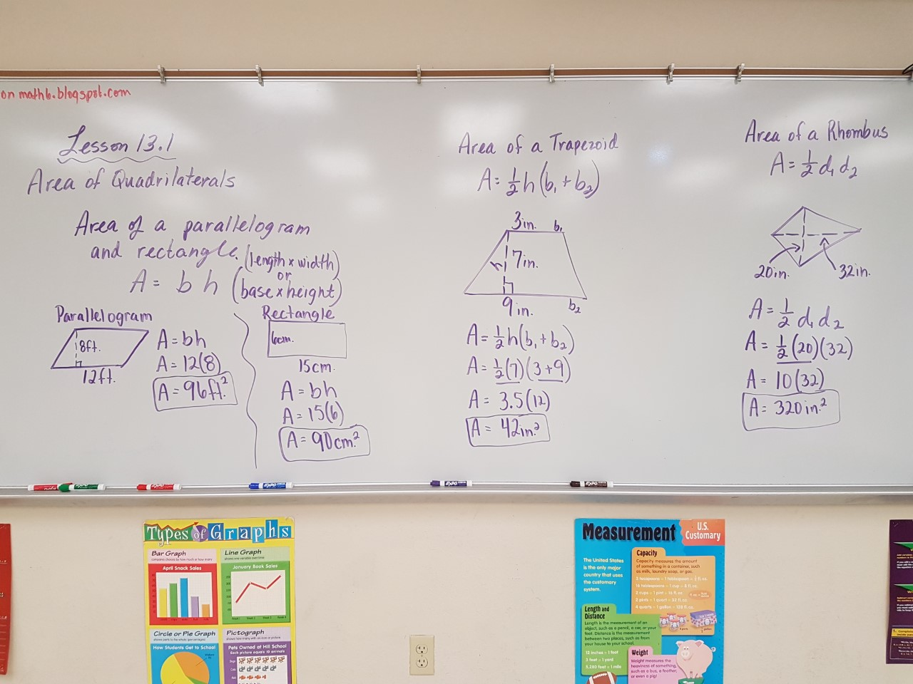 Mrs Negron 6th Grade Math Class Lesson 13 1 Area Of Quadrilaterals