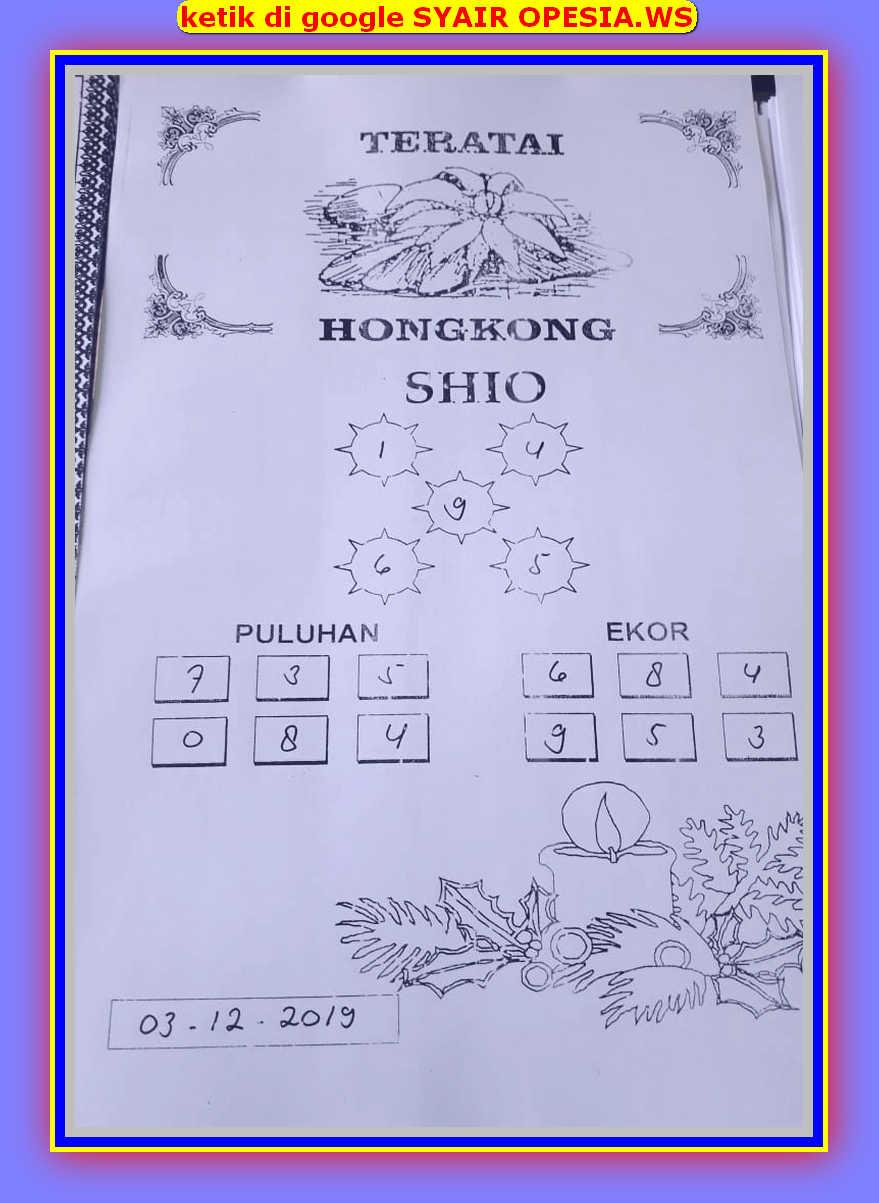 Kode syair Hongkong Selasa 3 Desember 2019 29