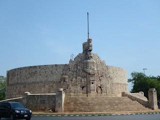 homeland monument on Paseo de Montejo