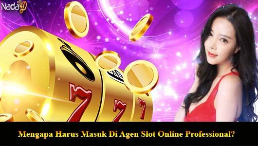 Mengapa Harus Masuk Di Agen Slot Online Professional?