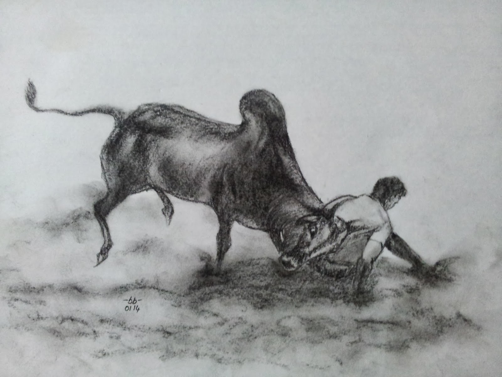 Jallikattu Series ~ Sathish's Gallery - Pencil Sketches ...