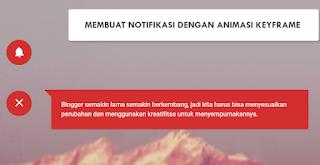 Widget Dengan Notification keyframe with Animation