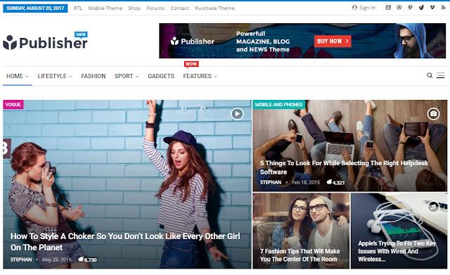 Publisher Newspaper WordPress Theme