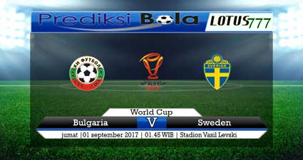 Prediksi pertandingan Bulgaria Vs Swedia 01 September 2017