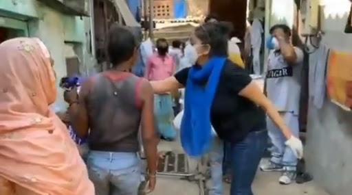 Rana Ayyub assistance to slum dwellers
