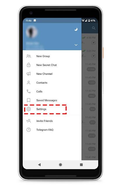 Cara Buat Folder Untuk Asingkan Chat, Group dan Channel