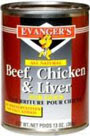 Picture of Evanger's Beef with Chicken And Liver Canned Dog Food