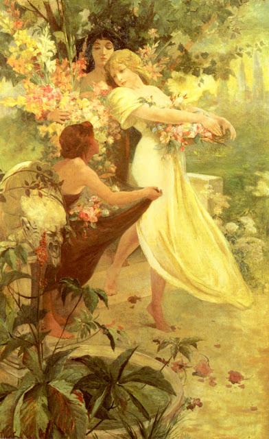 Альфонс Муха - Дух весны. 1908