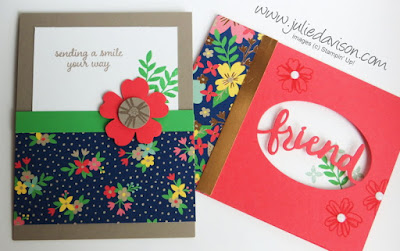 Mixing Old with New: Stampin' Up! Love & Affection with Lovely Words Thinlits ~ www.juliedavison.com