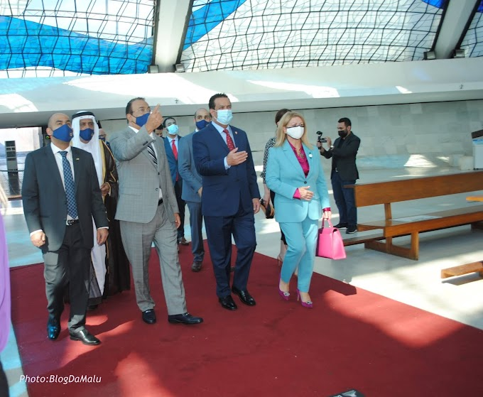 Internacional: Sheik do Reino do Bahrein visita a Catedral de Brasília e  a Igreja Ortodoxa do Lago Sul