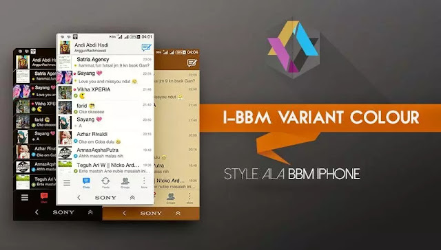 I-BBM Variant Colour V2.7.0.23 Apk Variasi Warna yang Elegant
