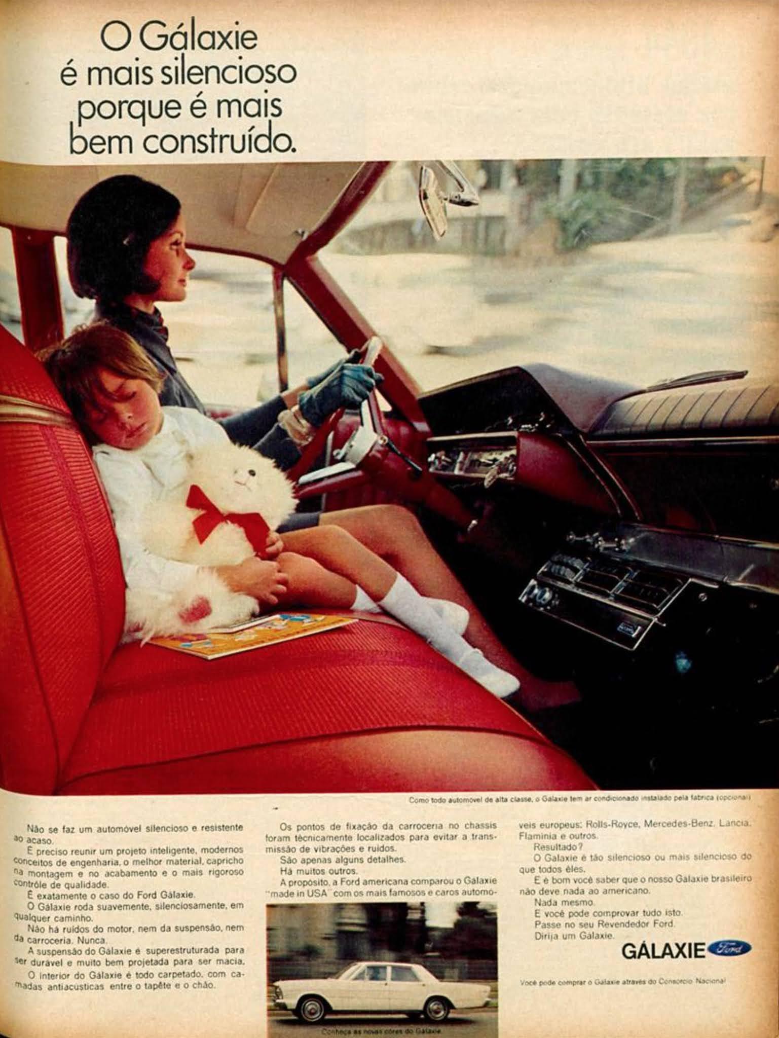 Propaganda da Ford promovendo o Galaxie em 1968