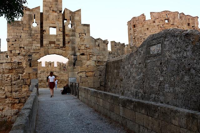 Obzidje mesta Rodos, Grčija
