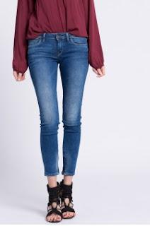 Pepe Jeans - Jeansi dama originali albastri Cher