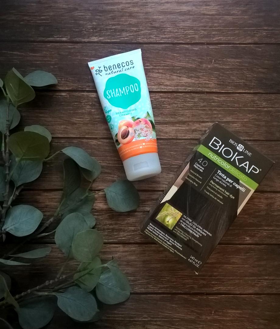 Benecos, szampon morelowy & Biokap Delicato farba 4.0