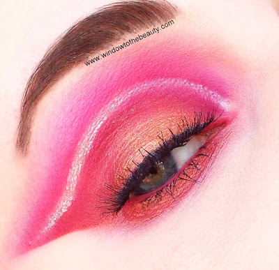 red pink cut crease