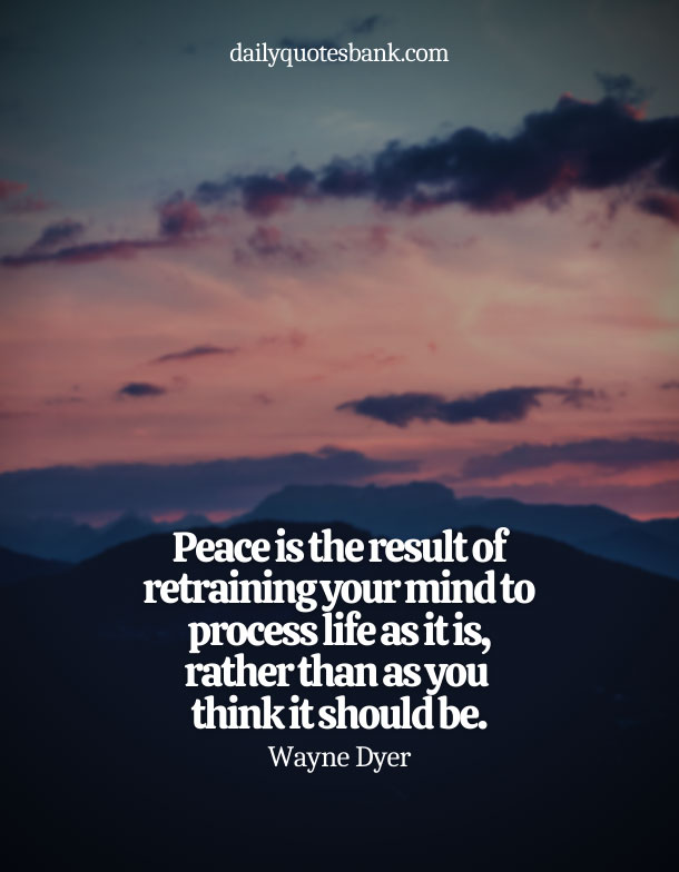 Quotes About Being At Peace With Life