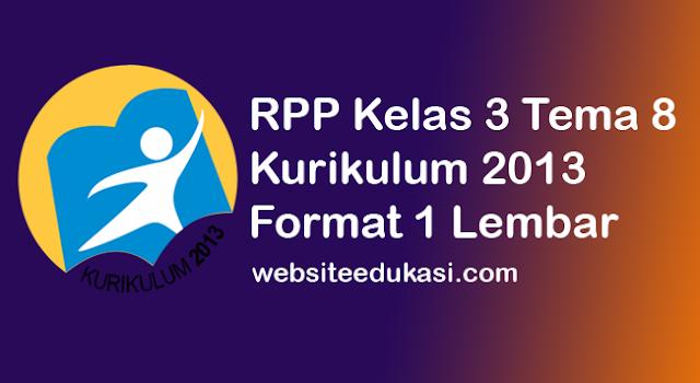 RPP Kelas 4 Semester 2 K13 Revisi 2020 Format 1 Lembar