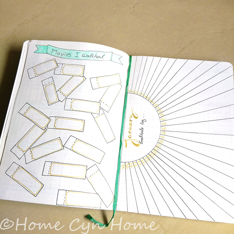 2018 Bullet Journal Setup Home Cyn Home