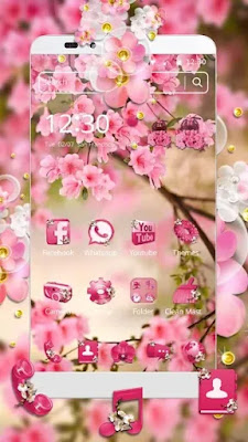 Pink Summer Flower Theme